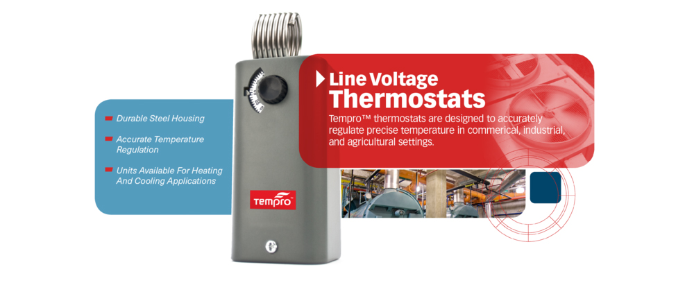 <p>Tempro thermostats are designed to accurately regulate precise temperature in commercial, industrial and agricultural settings.</p>